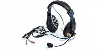 Наушники с регулятором громкости и микрофоном